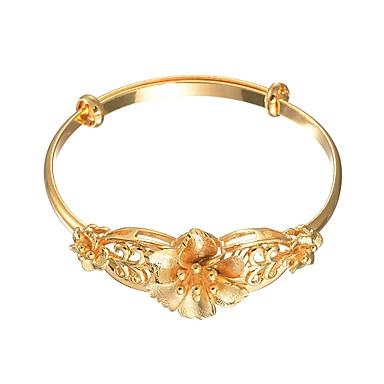 Damskie Bransoletki bangle Bransoletka , Słodkie Miedź Gold Kwiat Biżuteria Ślub Biżuteria kostiumowa