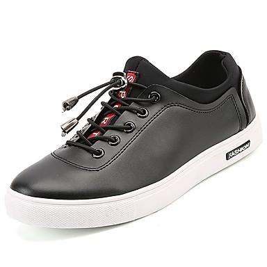 Męskie Komfortowe buty PU Wiosna / Jesień Adidasy Biały / Czarny