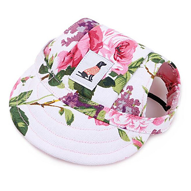 93e6e6bfbcc Cat Dog Hats, Caps & Bandanas Dog Clothes Leopard Rainbow Stripe Leopard  Canvas Oxford cloth Costume For Spring, Fall, Winter, Summer Flower Style  Casual ...