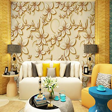 Mural Brezentowy Tapetowanie - klej wymagane Liście drzew / / Art Deco / 3D