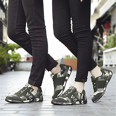 Hiver Femme Confort rond Course Chaussures Vert Bas Semelles Véronèse Automne Chaussures Bout 06439874 Toile à d'Athlétisme Pied Talon Légères qfxtrf