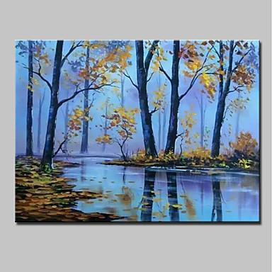 Hang-Malowane obraz olejny Ręcznie malowane - Krajobraz Nowoczesny Brezentowy / Walcowane płótno