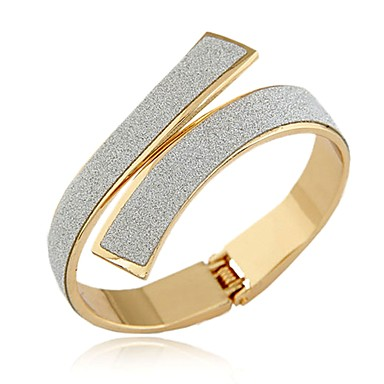 cheap Bangles Bracelets-Women's Bracelet Bangles Cuff Bracelet stardust Statement Ladies Vintage Fashion Italian Alloy Bracelet Jewelry Gold / Silver For Party Gift