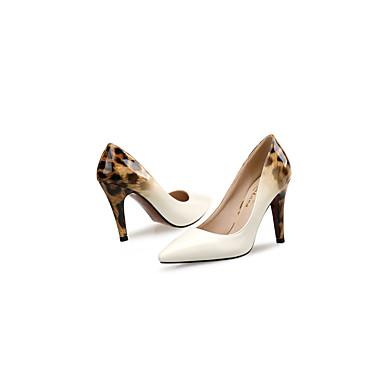 amp; Talons Automne Chaussures Printemps Chaussures Confort 06440436 Noir Cuir Talon Blanc Verni Bout Evénement Aiguille à Femme pointu Soirée q8Sn1waa