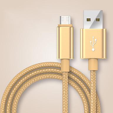 USB 2.0 / Tipo-C Entrançado Cabo Samsung / Huawei / LG para 100 cm Para Náilon