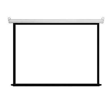1080P  72 Inch 4:3 Motorized White Plastic Projector Screen