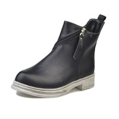 Damen Schuhe PU Sommer Sandalen Stöckelabsatz für Normal Schwarz Schwarz/weiss