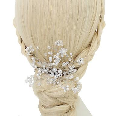 Kryształ / Imitacja pereł / Stop Grzebienie do włosów z 1szt Ślub / Specjalne okazje Winieta