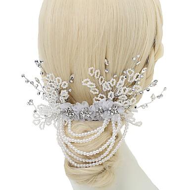 Szyfon Imitacja pereł Kryształ górski Stop Grzebienie do włosów 1szt Ślub Specjalne okazje Winieta
