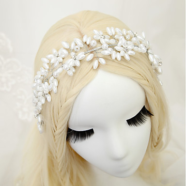 Imitacja pereł Kryształ górski Opaski na głowę 1szt Ślub Specjalne okazje Winieta