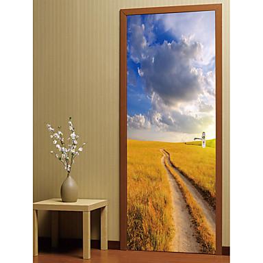Naklejki na drzwi - Naklejki ścienne 3D Krajobraz / Romans Gabinet / Office / Pokój dla dzieci