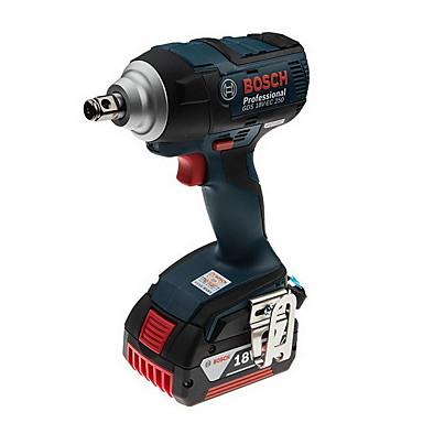 Bosch 18v chave de impacto recarregável bateria de lítio chave elétrica gds18v-ec 250 dupla versão de alimentação