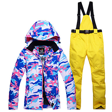 Phibee S-xl Winter Jackets Women Ski Suit Set Jackets And Pants Outdoor Single Ski Set Windproof Therma Ski Snowboardl Sports & Entertainment Skiing & Snowboarding