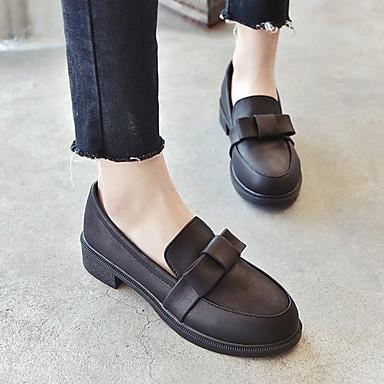 Cuadrado Dedo 06458324 Confort Oxfords Negro Primavera Borgoña Otoño Goma redondo Zapatos Mujer Tacón Uw7088
