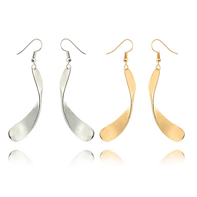 Damskie Kolczyki na sztyft Kolczyki koła Prosty Wyrazista biżuteria Modny Posrebrzany Pozłacane Stop Leaf Shape Biżuteria Gold Silver