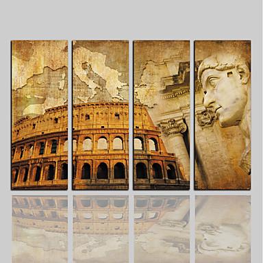 Nadruk na płótnie Klasyczny Rustykalny Nowoczesny, Cztery panele Brezentowy Pionowy Wydrukować wall Decor Dekoracja domowa