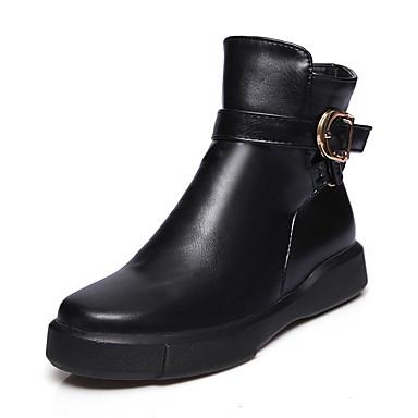 Femme Chaussures Similicuir Polyuréthane Hiver à Automne Bottes à Hiver la  Mode Botillons Bottes Talon Plat a6aa63a2a7be
