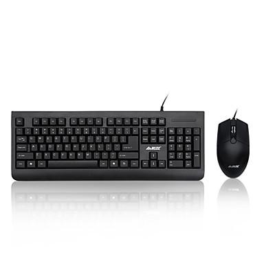 AJAZZ Ajazz-x1180 Przewodowy/a Kombinacja klawiatury myszy Odporny na zalanie