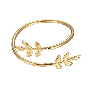 Damskie Bransoletki bangle / Bransoletki cuff - Leaf Shape Azjatycki, Vintage Bransoletki Gold Na Impreza / Karnawał