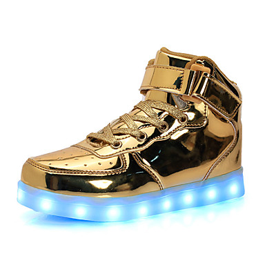 f96c7ad6d4f6 Boys' Shoes Patent Leather / Customized Materials Fall Comfort / Light Up  Shoes Sneakers Lace-up / Hook & Loop / LED for Silver / Blue / Pink / TR