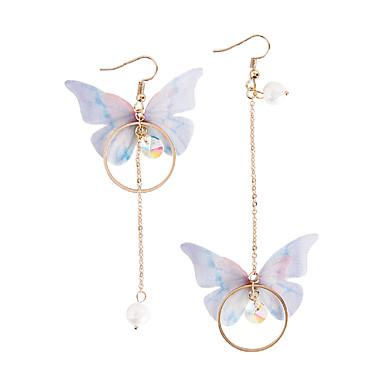 halpa Kynttelikkökorvakorut-Naisten Helmi Pisarakorvakorut ristiriitaiset Pitkä Butterfly naiset Muoti Tekohelmi korvakorut Korut Kulta Käyttötarkoitus Party