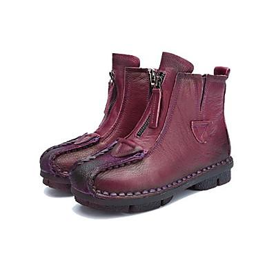 Mujer Zapatos PU Otoño invierno Botas de Moda / Botas hasta el Tobillo Botas Tacón Cuña Dedo redondo Botines / Hasta el Tobillo Pedrería / Purpurina Negro / Marrón sIe9YBd1