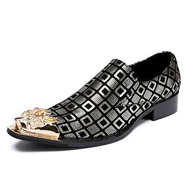 Hombre Zapatos Cuero Otoño / Invierno Innovador / Zapatos formales Oxfords Plateado / Purpurina / Boda / Fiesta y Noche HuUbIVn8dE