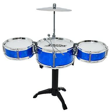 Недорогие Игрушечные инструменты-Барабанная установка Игрушечные музыкальные инструменты Круглый Барабанная установка Джазовый барабан Девочки Мальчики