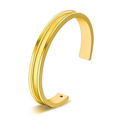 Damskie Bransoletki bangle / Bransoletki cuff - Stal nierdzewna Prosty, Podstawowy, Modny Bransoletki Gold / Silver / Różowe złoto Na Codzienny / Wyjściowe