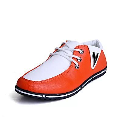 גברים נעליים PU קיץ נוחות נעלי אוקספורד ל קזו'אל שחור כתום כחול