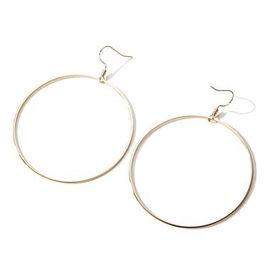 Damskie 2szt Kolczyki koła , Ponadgabarytowych Modny Stop Circle Shape Biżuteria Gold Urlop Ulica Biżuteria kostiumowa