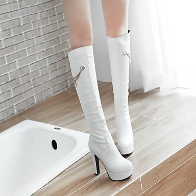 Talon Hiver Mi mollet haut Bout Polyuréthane à 06439799 pour Chaussures Bottes Femme rond Mode Bottes Bottes la Similicuir Automne Cuissarde Bottes tZSBqSnvw