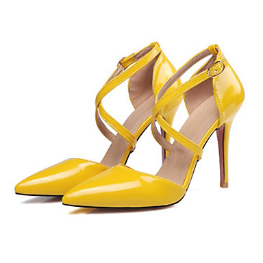 cheap Women's Heels-Women's PU(Polyurethane) Spring / Summer Comfort / Novelty Heels Stiletto Heel Pointed Toe Yellow / Pink / Nude / Wedding / Party & Evening / Party & Evening