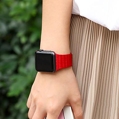 Uhrenarmband für Apple Watch Series 3 / 2 / 1 Apple Lederschlaufe Echtes Leder Handschlaufe