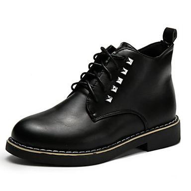 Oxford-kengät-Tasapohja-Naisten-PU-Musta-Rento-Comfort