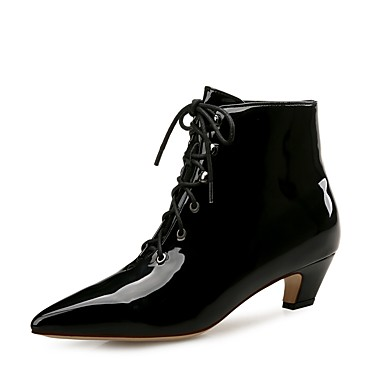 7f9bc6f2d55 Women's Boots Low Heel Pointed Toe Patent Leather Booties / Ankle Boots  Fashion Boots Fall / Winter Black / Party & Evening