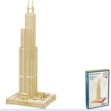 voordelige 3D-puzzels-3D-puzzels Houten puzzels Modelbouwsets Mode Huis Sears toren Nieuw Design DHZ 1 pcs Klassiek Modieus Kinderen Jongens Meisjes Speeltjes Geschenk