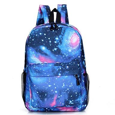 abordables Sacs-Unisexe Motif / Impression Toile Sac d'Ecole sac à dos Etoiles Rose Claire / Bleu de minuit