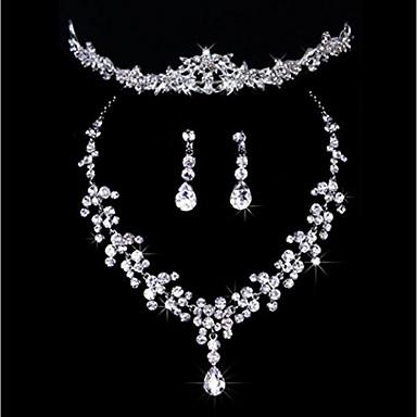 5363dc2c3a Women's Jewelry Set Classic Imitation Diamond Earrings Jewelry Silver For  Wedding Party