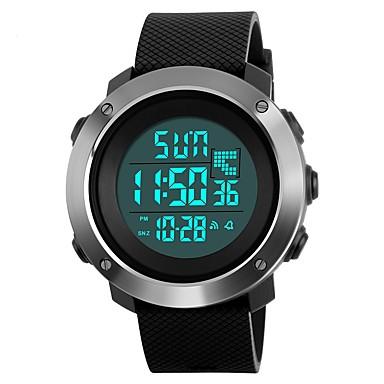 cheap Women's Watches-SKMEI Men's Couple's Sport Watch Wrist Watch Digital Watch Quartz Quilted PU Leather Black / Green / Grey 50 m Water Resistant / Waterproof Calendar / date / day Stopwatch Digital Luxury Casual