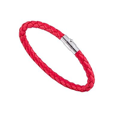 baratos Bangle-Homens Mulheres Bracelete Magnética Simples Fashion Pele Dura Pulseira de jóias Verde / Azul / Rosa claro Para Presente Diário