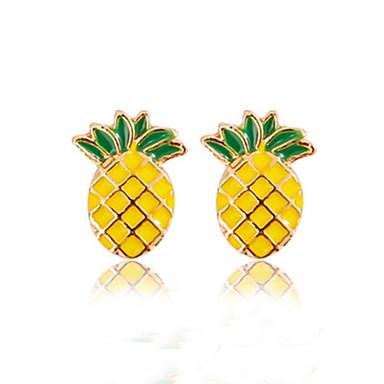 abordables Boucle d'Oreille-Femme Boucles d'oreille Clou Ananas Fruit dames Mode Des boucles d'oreilles Bijoux Jaune Pour Quotidien