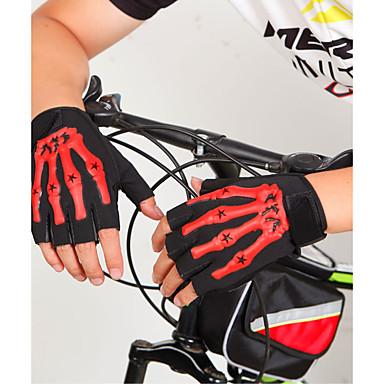 Rękawiczki sportowe Rękawiczki rowerowe Zdatny do noszenia Oddychający Bez palców Włókno Krzem Kolarstwie szosowym Kolarstwo / Rower