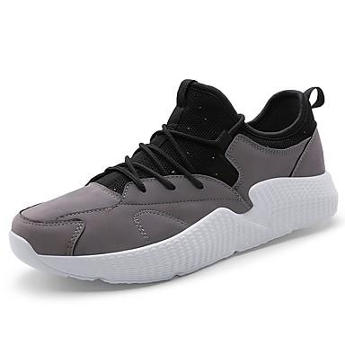 בגדי ריקוד גברים נעלי נוחות בד אביב / קיץ נעלי ספורט שחור / אפור / חום בהיר / בָּחוּץ