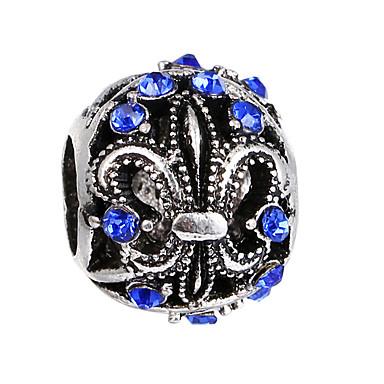 כדור חרוזים תכשיטים DIY - אבן נוצצת אדום / כחול בהיר / כחול ים צמידים שרשראות