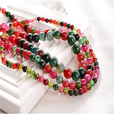 voordelige Dames Sieraden-DIY sieraden 48 stk kralen Synthetische Edelstenen Regenboog Rond Kraal 1 cm DIY Kettingen Armbanden