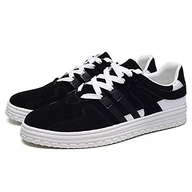 בגדי ריקוד גברים PU אביב / סתיו נוחות נעלי ספורט שחור / שחור לבן / שחור אדום