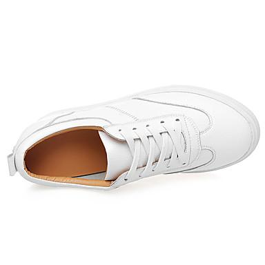 de semelle Basket Chaussures rond Confort Blanc Eté compensée Rouge Hauteur Beige Printemps 06537789 Femme Cuir Bout 0qwT8X