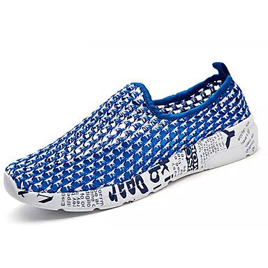בגדי ריקוד נשים נעליים טול קיץ נוחות נעלי ספורט שטוח שחור / כחול / שחור לבן