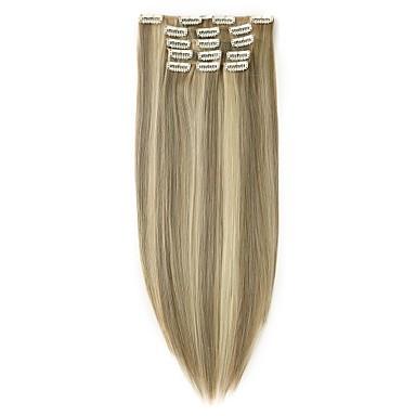 Neitsi ישר שיער סינטטי 22 אינץ' הַאֲרָכַת שֵׂעָר נתפס עם קליפס צבעים מרובים 7 בגדי ריקוד נשים חתונה Party יוֹם הַשָׁנָה